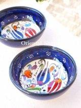 特価・キュタフヤ*陶器|ミニボウル|ブルー系2つセット