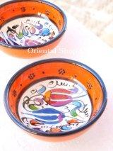 特価・キュタフヤ*陶器|ミニボウル|オレンジ系2つセット:2
