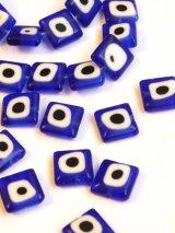 ナザルボンジュウパーツ・青:スクエア10ミリ 6個