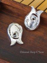 オリエンタルチューリップの真鍮パーツ|VAV|シルバー|ツヤ|大