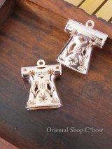 カフタンの真鍮パーツ|チューリップ|ピンクゴールド|ツヤ|大