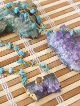 ◆ターコイズ☆天然石ロングネックレス|3
