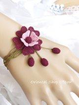 シルクイーネオヤブレスレット|お花・シベル|メランザーナ