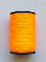 MUZ撚り済み:人工シルク糸|蛍光|オレンジ-7002