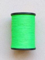 MUZ撚り済み:人工シルク糸|蛍光|グリーン-7001