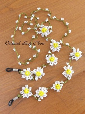 画像2: お花☆ボンジュックオヤグラスコード|デイジー