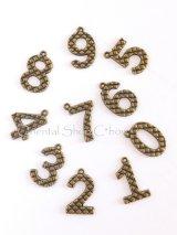 金属パーツ|金古美・数字|0〜9|10個セット