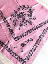 トカット|木版|スカーフ|薔薇|アンティークローズ