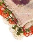 画像4: ブルサ:木版アンティークオヤスカーフ|イーネオヤ|シルク糸・キャートヤズマ|アンティーチョークの断面