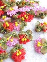 手作りアクセに☆クルデレオヤパーツ|扇形花