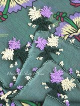 ブルサ:イズニック|アンティークオヤスカーフ|イーネオヤ(人工シルク糸)|グリーン・柄も可愛い