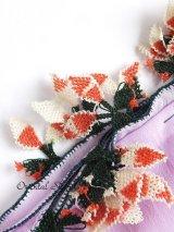ブルサ:イズニック・大きなオヤ(ナイロン糸)|アンティークオヤスカーフ|ライラック