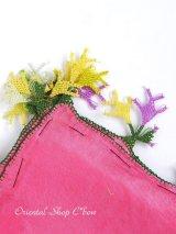 ブルサ:イズニック・大きなオヤ(ナイロン糸)|アンティークオヤスカーフ|パッションピンク