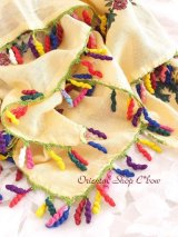 アンティークオヤスカーフ・トゥーオヤ|コットン糸|カラフルぐるぐる
