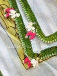 画像4: ナウルハン|アンティークイーネオヤスカーフ|シルク糸・とうがらし|グレーブルー (4)
