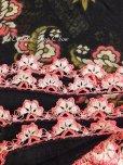 画像5: バルッケシル:アンティークオヤスカーフ|トゥーオヤ|ピンク花×ブラック