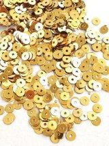 スパンコール|4mm|ゴールド(メタル)・10g