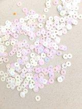 スパンコール|3mm|シェルホワイト(オーロラ)・10g