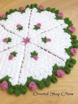 ボディタオル[リフ・エコたわし] ミニ薔薇ケーキ