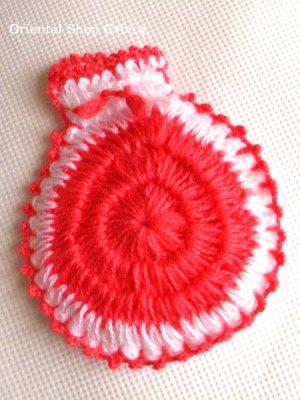画像1: ボディタオル[エコたわし]・ふわふわまる袋・ピンク