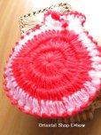 画像2: ボディタオル[エコたわし]・ふわふわまる袋・ピンク (2)