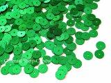 スパンコール42・丸グリーン(まだらホログラム)
