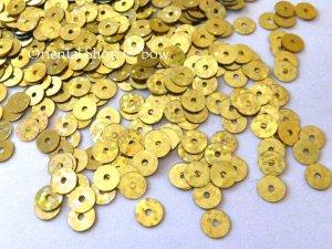 画像1: スパンコール37・丸ゴールド(ホログラム)