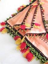 ボル:ムドゥルヌ|アンティークオヤスカーフ|シルク:イーネオヤ|ピンク