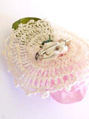 画像5: オデミシュ コザ(蚕のまゆ)のシルクブローチ:ベビーピンク