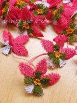 手作りアクセに☆シルク糸:イーネオヤ単体|落花生の花|ピンク×ホワイト