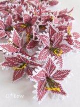 手作りアクセに☆シルク糸:イーネオヤ単体|大きな花|オールドローズ×ホワイト
