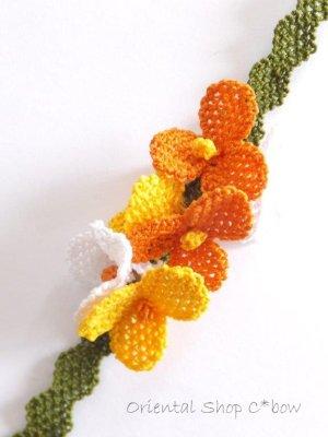 画像3: シルクイーネオヤブレスレット:6花フェスティバル:イエロー系