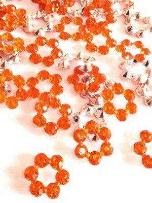 画像1: ラインストーン芯・オレンジ