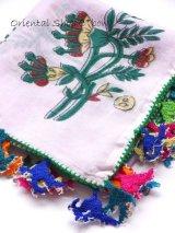 マニサ:アンティークイーネオヤスカーフ|コットン糸|ラベンダー