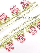 タオルの縁飾り:メキッキ|花:マゼンタ