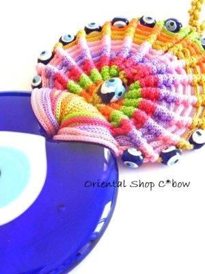 画像3: 大きい★ナザルボンジュウ★カラフル編み紐オーナメント:1