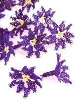 手作りアクセに☆シルク糸:イーネオヤ単体|花|ダークパープル