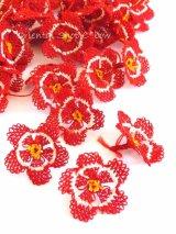 手作りアクセに☆シルク糸:イーネオヤ単体|オクラ|レッド