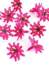 手作りアクセに☆シルク糸:イーネオヤ単体|花|ディープピンク