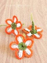 手作りアクセに☆シルク糸:イーネオヤ単体|淑女の窓|オレンジ