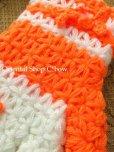 画像2: ボディタオル[エコたわし]・手袋・オレンジ×オフホワイト (2)