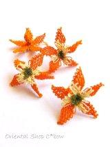 手作りアクセに☆シルク糸:イーネオヤ単体|キュペリ(フクシア)|オレンジ