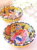 特価・キュタフヤ*陶器|ミニボウル|カラフル:イエロー系2つセット