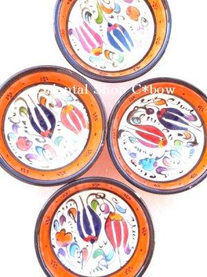 画像3: 特価・キュタフヤ*陶器|ミニボウル|オレンジ系2つセット:2