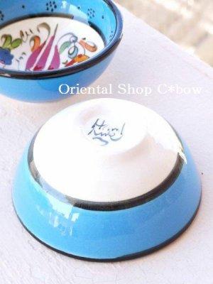 画像3: 特価・キュタフヤ*陶器|ミニボウル|ターコイズブルー系2つセット