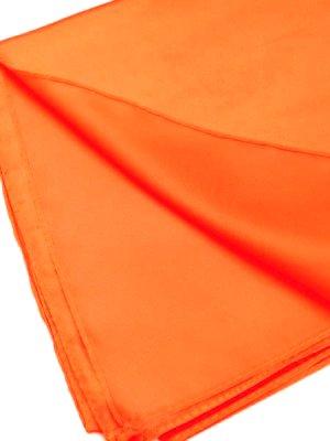 画像1: お試し特価★サテンスカーフ*オヤなし:ホットオレンジ