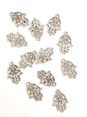 画像1: 透かしハムサ☆ファトマの手 ロジウム5個パック