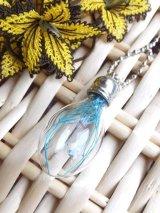 ガラスボトルネックレス☆ランプ|青花