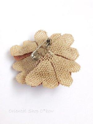 画像5: シルクイーネオヤブローチ|草木染シルク糸|ピーチ