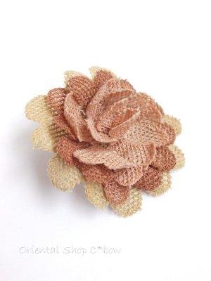画像2: シルクイーネオヤブローチ|草木染シルク糸|ピーチ